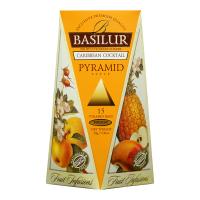 BASILUR Fruit Infusions Caribbean Cocktail pyramid ovocný čaj 15 sáčků