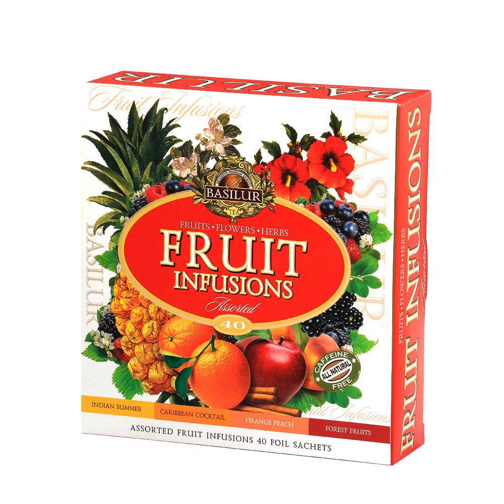 BASILUR Fruit Infusions Assorted dárková kolekce čajů 40 sáčků