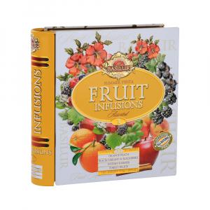 BASILUR Fruit Infusions Book Summer Fiesta směs ovocných čajů 32 sáčků