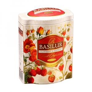 BASILUR Fruit Strawberry & Raspberry ovocný čaj 100 g