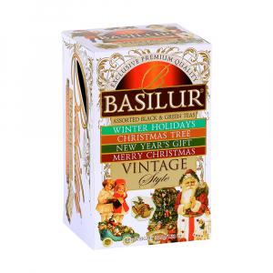 BASILUR Vintage Style dárková kolekce čajů 20 sáčků