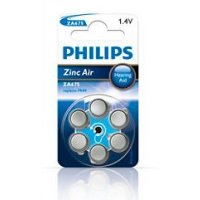 PHILIPS baterie do naslouchadel 6ks