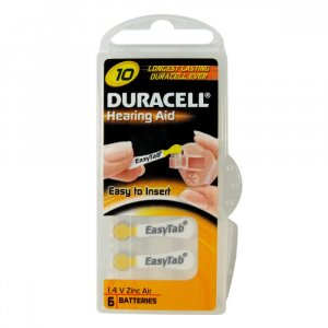 Baterie do naslouchadla Duracell DA10P6 Easy Tab 6ks