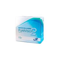 BAUSCH & LOMB PureVision 2 HD Měsíční kontaktní čočky 6 kusů, Počet dioptrií: -10,00, Počet kusů v balení: 6 ks, Průměr: 14,0, Zakřivení: 8,6