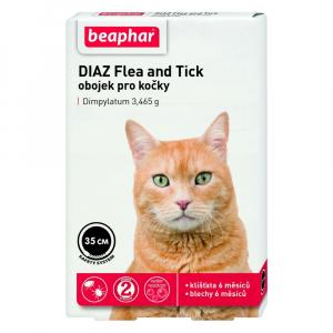 BEAPHAR Antiparazitní obojek pro kočky DIAZ Flea&Tick 35 cm