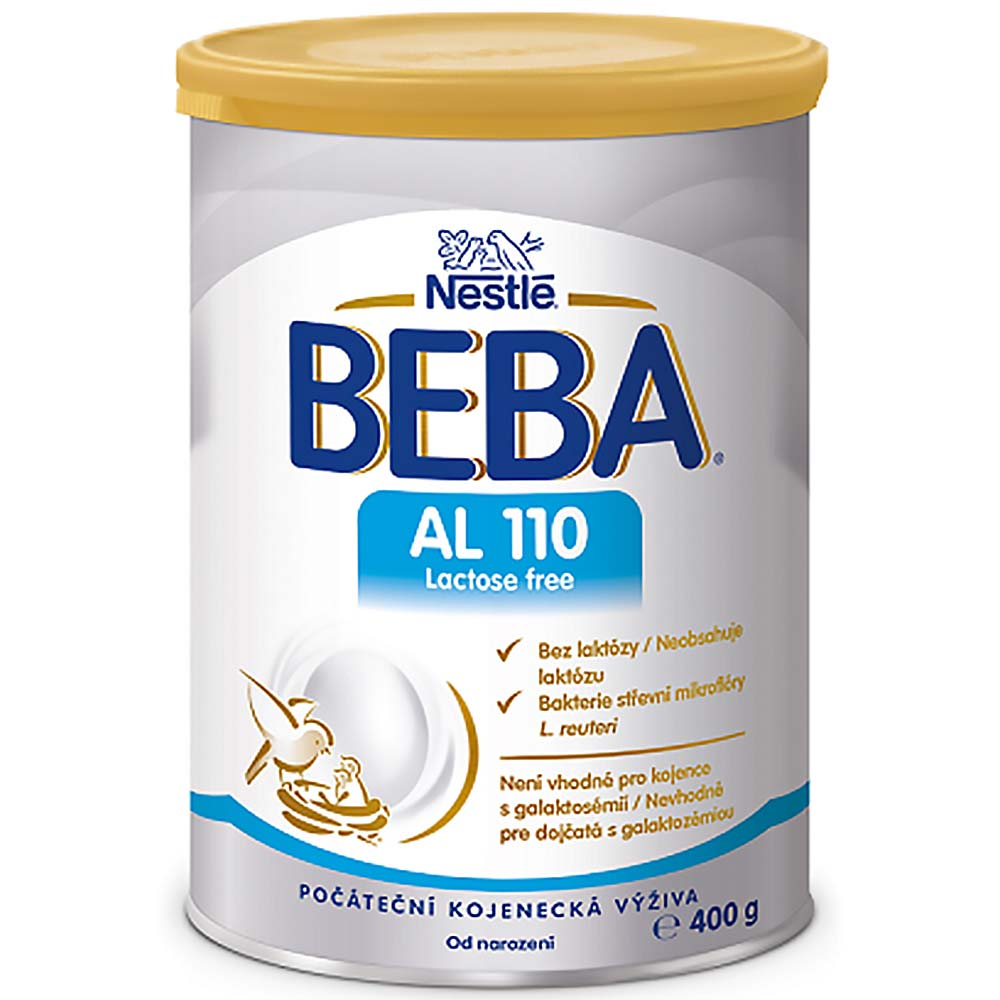 BEBA AL 110 Lactose Free Počátení kojenecké mléko od narození 400 g