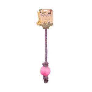 BECO Ball EKO lano s míčkem pro psy - růžová L