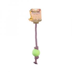 BECO Ball EKO lano s míčkem pro psy - zelená L