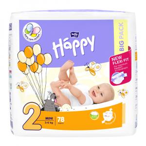 HAPPY Mini big pack dětské pleny 3 - 6 kg 78 kusů