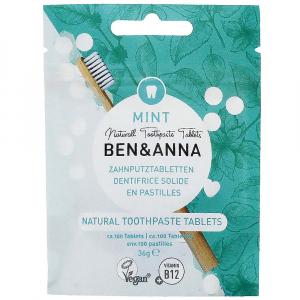 BEN&ANNA Zubní pasta v tabletách bez fluoridu MINT 100 ks