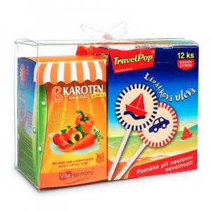 VITAHARMONY TravelPop letní box 12 ks + Beta karoten 365 tobolek + míč ZDARMA