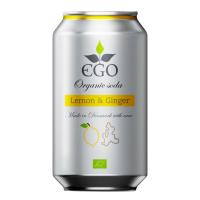 EGO Biolimonáda citrón a zázvor 330 ml BIO