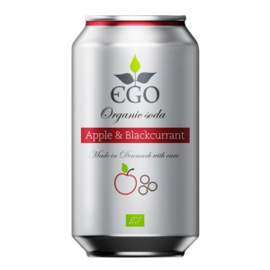 EGO Biolimonáda jablko a černý rybíz 330 ml BIO