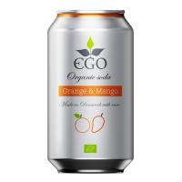 EGO Biolimonáda pomeranč a mango 330 ml BIO