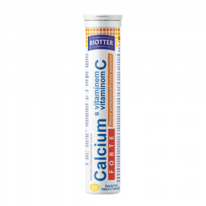 BIOTTER Calcium FORTE s vitamínem C pomeranč tablety 20 ks