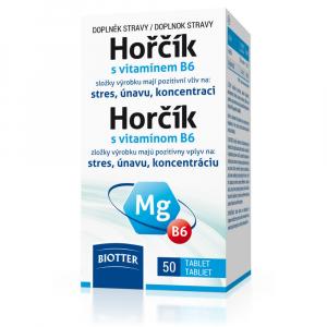 BIOTTER Hořčík s vitamínem B6 50 tablet