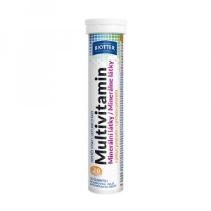 BIOTTER Multivitamín s minerály šumivé tablety 20 ks