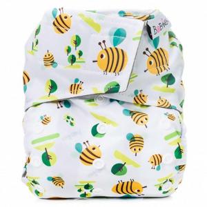 BOBÁNEK Kapsová AIO plena Premium na suchý zip Včelky 1 ks