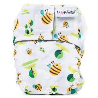 BOBÁNEK Novorozenecká AIO plena suchý zip Včelky