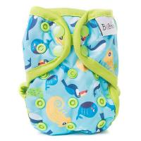 BOBÁNEK Novorozenecké svrchní kalhotky s patentky Chameleoni