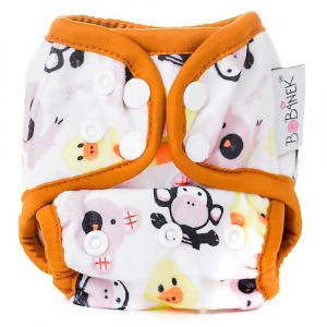 BOBÁNEK Novorozenecké svrchní kalhotky s patentky Zvířátka