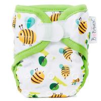 BOBÁNEK Novorozenecké svrchní kalhotky na suchý zip Včelky