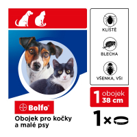 BOLFO obojek pro kočky a malé psy 38 cm 1 kus