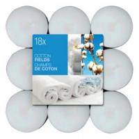 BOLSIUS Čajové svíčky Cotton Fields 18 ks