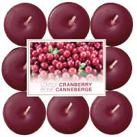 BOLSIUS Čajové svíčky Lovely Cranberr 18 ks