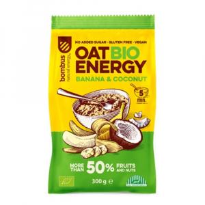 BOMBUS Oat energy banana & coconut ovesná kaše 65 g BIO