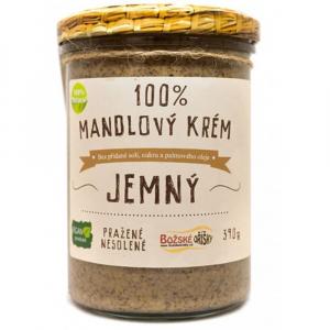 BOŽSKÉ OŘÍŠKY 100% Mandlový krém jemný 390 g