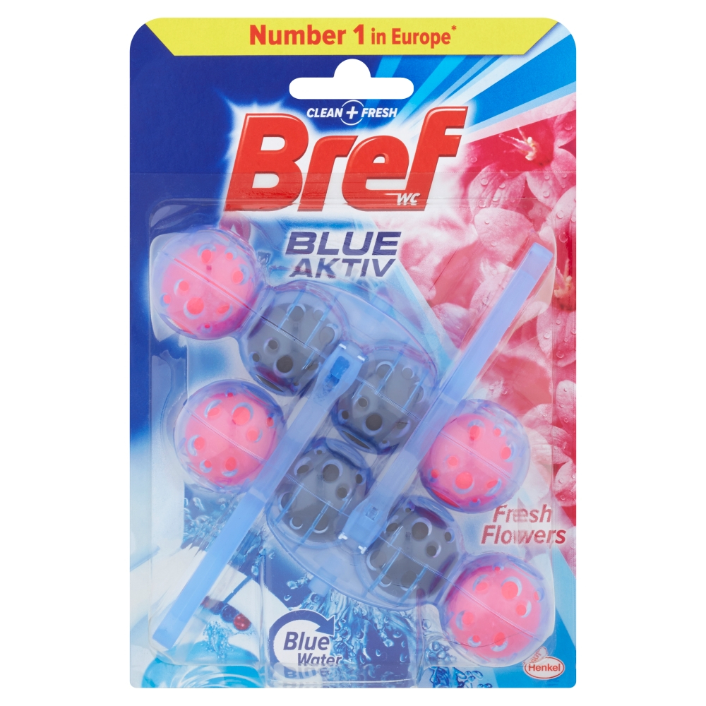 BREF Blue Aktiv Fresh Flowers tuhý WC blok 2x50 g