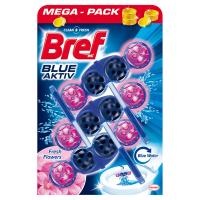 BREF Blue Aktiv Fresh Flowers tuhý WC blok 3x50 g