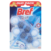 BREF Blue Aktiv Chlorine tuhý WC blok 2x50 g