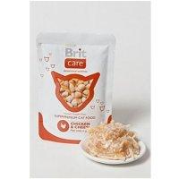 BRIT Care Cat kapsa Chicken & Cheese Pouch 80 g