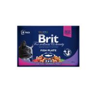 BRIT Premium Cat kapsa Fish Plate 400 g (4x100 g)