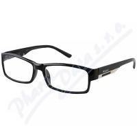 AMERICAN WAY Čtecí brýle Flex černé s kovovým doplňkem +1.00