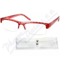 AMERICAN WAY brýle čtecí +1.50 červeno-černé s pouzdrem