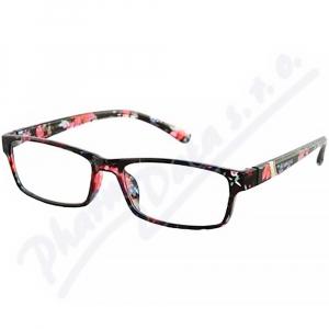 AMERICAN WAY brýle čtecí +3.00 černo-květinové