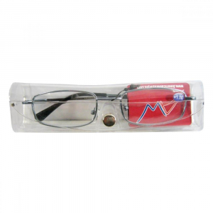 AMERICAN WAY Čtecí brýle v hnědé v etui, šedé + 2.50