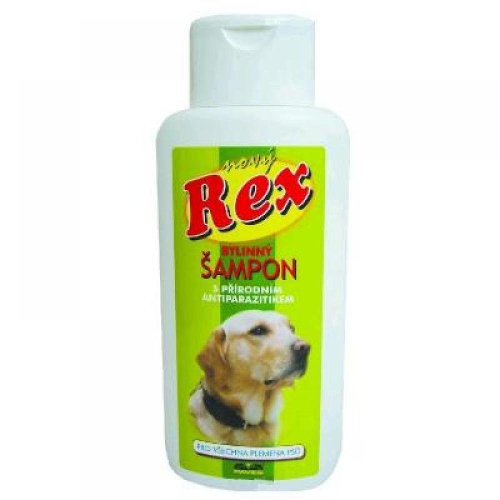 Rex bylinný šampon s antiparazitní přísadou pro všechna plemena psů 250ml