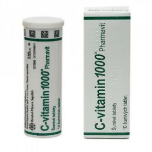 C-VITAMIN 1000 PHARMAVIT  10X1000MG Šumivé tablety