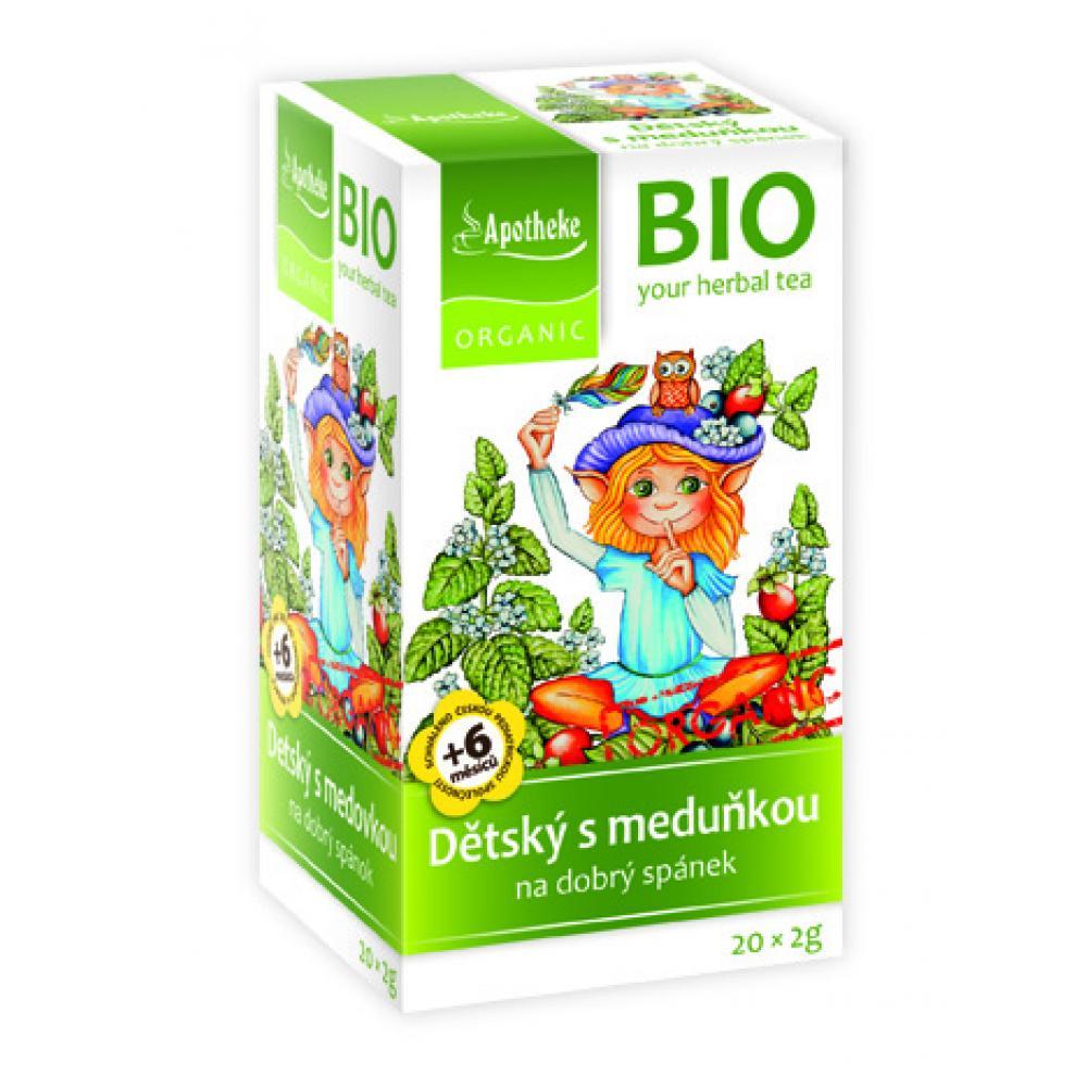 Apotheke BIO Dětský ovocný čaj s meduňkou 20x2g