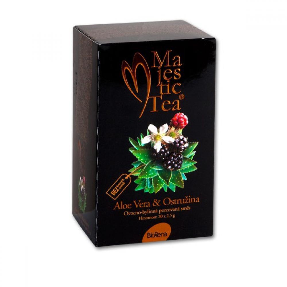 BIOGENA Čaj Majestic tea aloe vera + ostružina 20x2.5 g