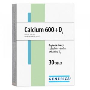 GENERICA Calcium 600 + D3 30 tablet