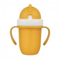 CANPOL BABIES Hrníček se silikonovou slámkou MATT PASTELS 210 ml