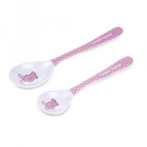CANPOL BABIES Melaminové lžičky TOYS růžové 2 ks
