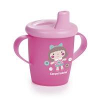 CANPOL BABIES Nevylévací hrníček TOYS 250 ml růžový
