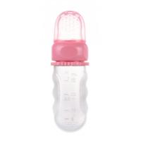 CANPOL BABIES Silikonová krmící síťka s nádobou Růžová 1 ks