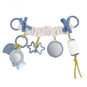 CANPOL BABIES Závěsná hračka na kočárek/autosedačku  PASTEL FRIENDS šedá